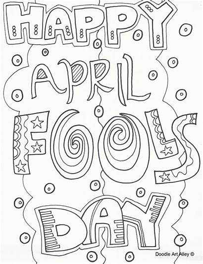 April Fools Coloring Pages Fool Printable Happy