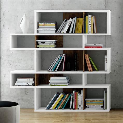 chaise de bureau a etagère design avec niche en bois blanc noyer 5