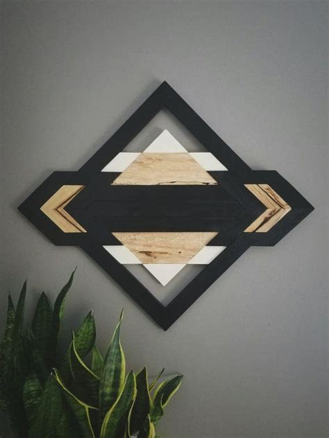 kind wood wall art reclaimed wood geometric