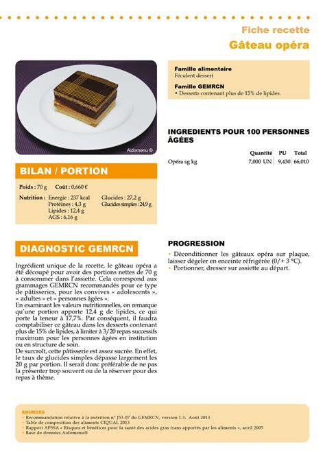 recette cuisine collective recette gemrcn gâteau opéra vici solutions restauration collective et commerciale