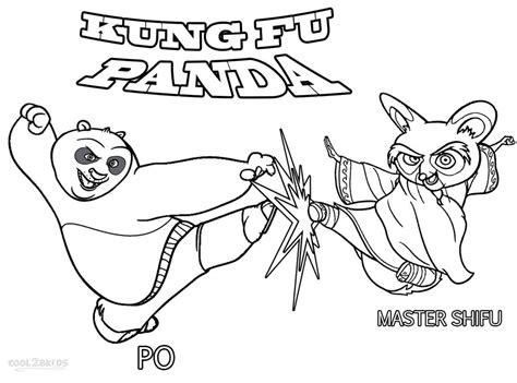 Kung Fu Panda Coloring Pages To Download And Print For Free
