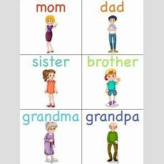 Family Members Flashcards  Buscar Con Google  Family Members  Family Worksheet, English