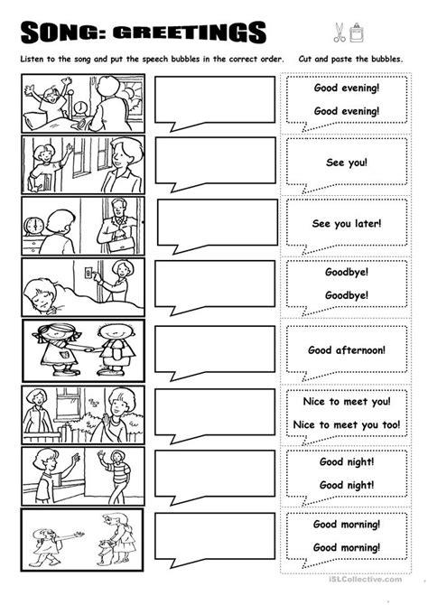good afternoon song preschool song greetings worksheet free esl printable worksheets 229