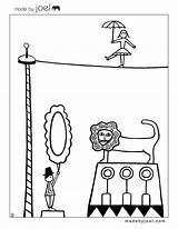 Circus Coloring Sheets Joel Pages Preschool Cirque Carnival Theme Sheet Coloriage Madebyjoel Printables Du Crafts French Le Colorier Printable Sur sketch template