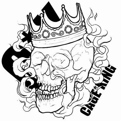 Drawing Crown Gangster Gangsta Transparent Skull Drawings