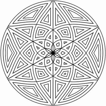 Coloring Pattern Pages Mandala