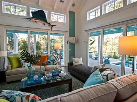 hgtv livingroom a tufted rug in a moroccan print continues a focus