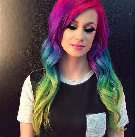 Best 25 Rainbow Hair Colors Ideas On Pinterest Crazy