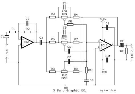 3 band graphic equalizer circuit eeweb community