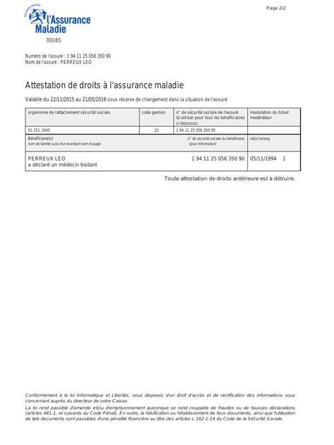 bureau carte assurance maladie pin attestation d assurance on