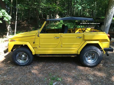 volkswagen thing yellow rare unique 1974 vw volkswagen thing 181 yellow solid extras