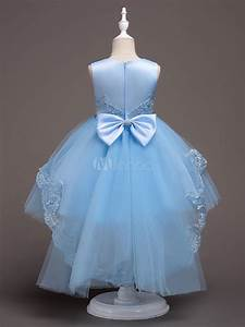Bridal Size Chart Flower Girl Dresses Baby Blue Lace Tulle Princess Tutu