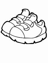 Coloring Pages Shoe sketch template