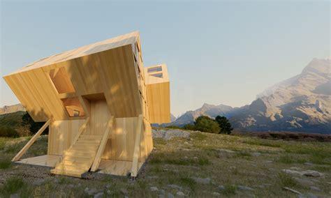 bureau valley plan bureau integrates asymmetric valley house into the