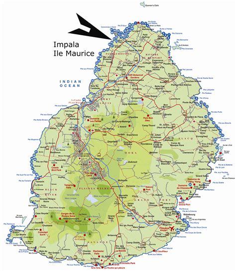 Ou Se Situe L Ile Maurice Sur La Carte Du Monde by Ile Maurice Carte Voyages Cartes