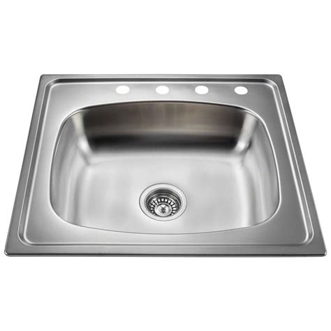 25 stainless steel kitchen sink polaris sinks drop in stainless steel 25 in 4 single 7308