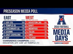 2016 American Athletic Conference Preseason Football Media ...