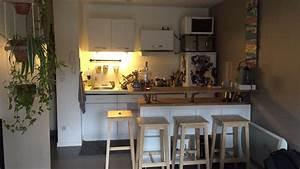 Ikea Bar Cuisine : table de bar avec kallax bidouilles ikea ~ Teatrodelosmanantiales.com Idées de Décoration
