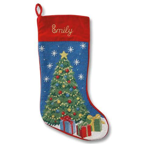 christmas tree heirloom needlepoint stocking lillian vernon