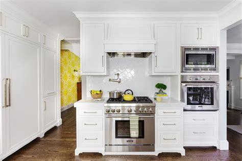 White Quatrefoil Backsplash Tiles  Transitional  Kitchen. Makeup Tables. Yourway Furniture. Shower Column. Pink Armchair