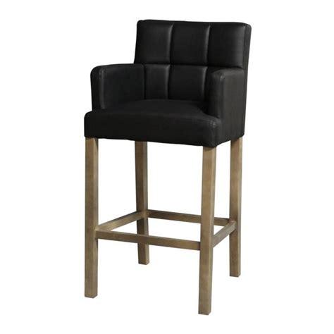 chaises hautes de bar chaise de bar haute kyo noir accoudoirs