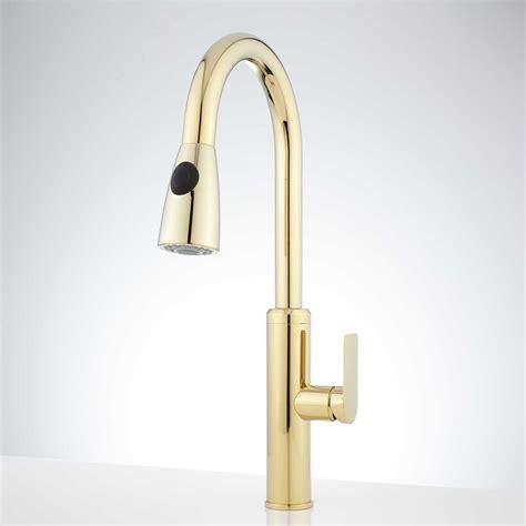 kohler kitchen sinks faucets kohler polished brass kitchen faucet 6695