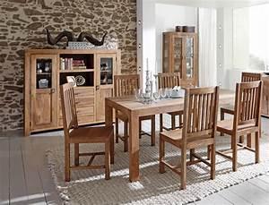 Esszimmer Mit Bank Und Stühle : esszimmer bihar 8 akazie massiv esstisch 6x stuhl highboard vitrine wohnbereiche esszimmer ~ Markanthonyermac.com Haus und Dekorationen