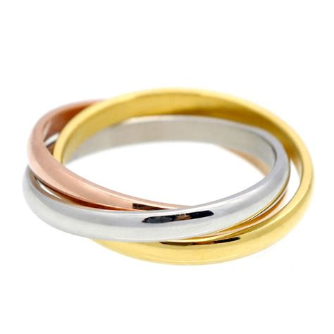 women engagement wedding band ring stainless steel three circles twist rolling ring 1pc in