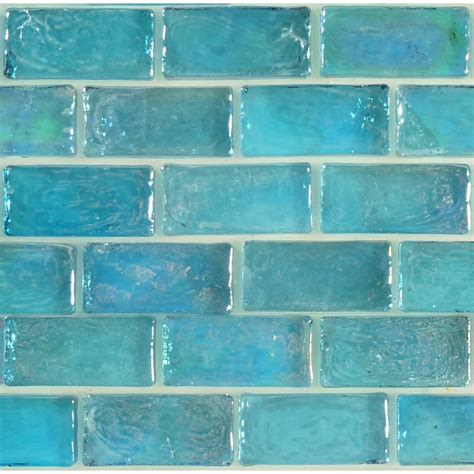 artistry  mosaics uniform brick aqua glass uniform brick