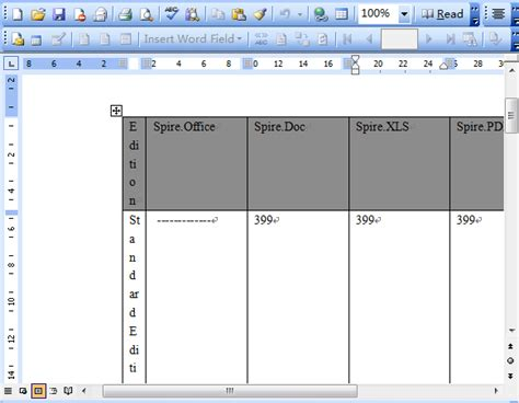How To Set Word Table Column Width
