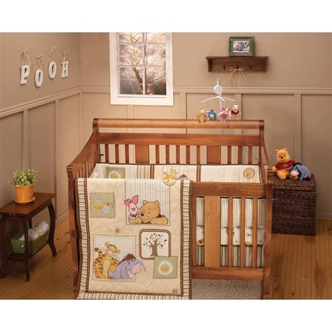 nursery room ideas winnie the pooh crib bedding set