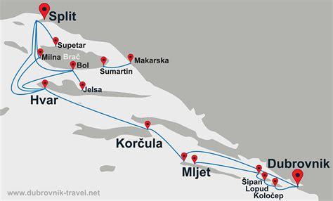 Excursion Catamaran Brac by Brač To Dubrovnik Ferry Map