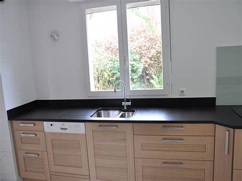 plan de travail en granit noir finition bross 233 e cuisine granit noir