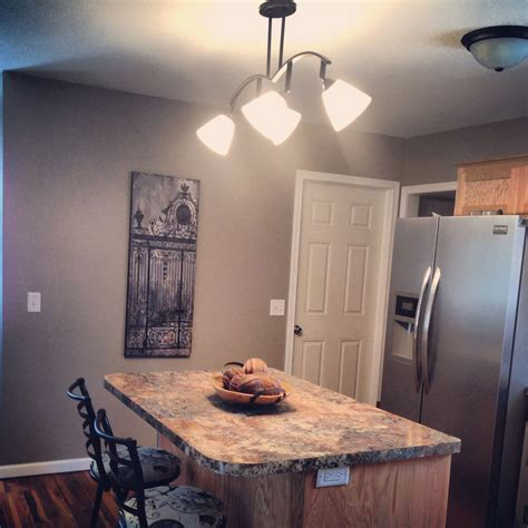 paint color greige by sw kitchen tracklight