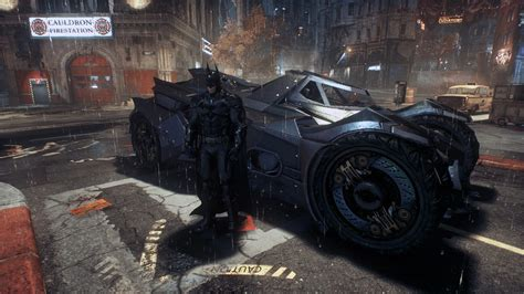 Batman And Batmobile  Batman Arkham Knight By Yurtigo On