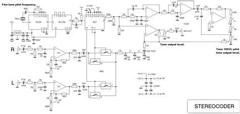 Veronica Stereo Encoder Basic Circuit Diagram
