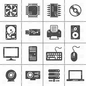 Computer Hardware Icons - PC Components, 5943, Icons and ...