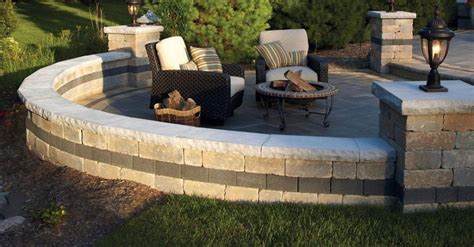unilock buffalo retaining wall coping options for comfortable seating and