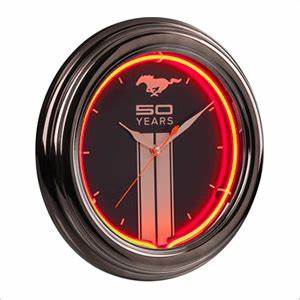 Ford Mustang 50 Years Neon Clock