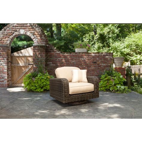 brown northshore patio motion lounge chair in