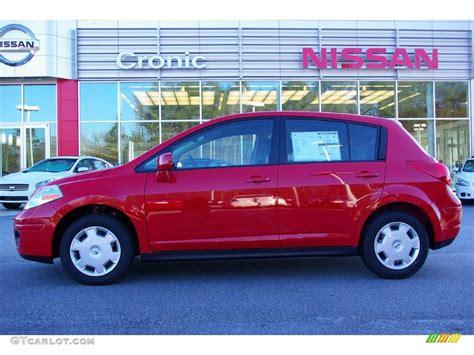 red nissan versa 2009 red alert nissan versa 1 8 s hatchback 11668818