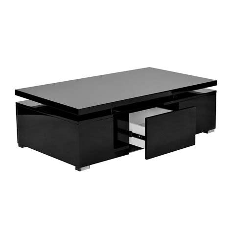 deco in table basse laquee a plateau relevale 1 tiroir top tab basse mdf top noir