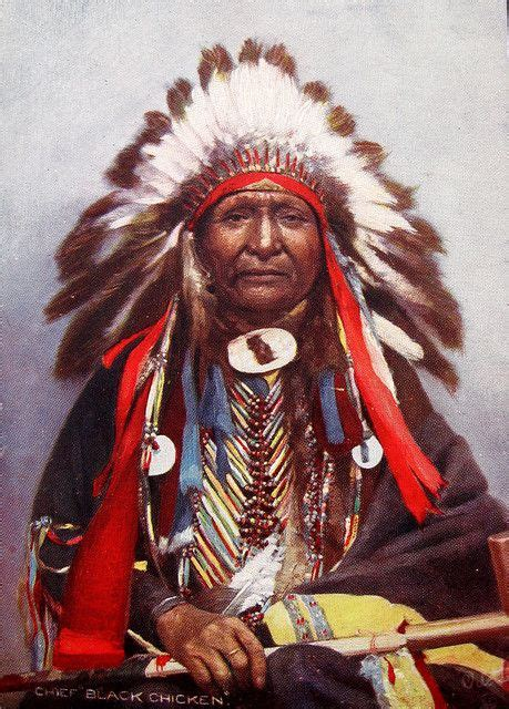 Indian Chief Picture by Chief Black Chicken Lakota Sioux Americans