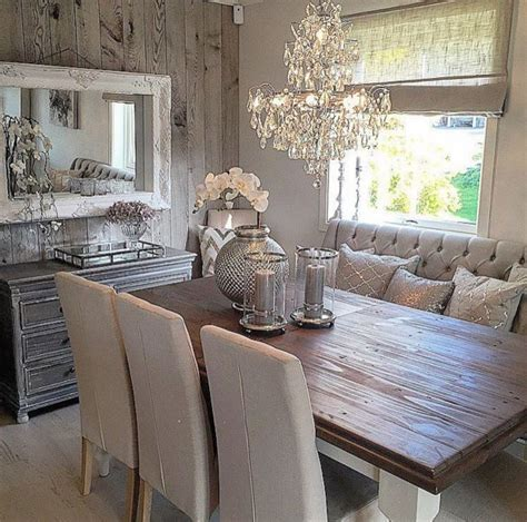 Rustic glam dining space   Home Decor: Inside & Outside