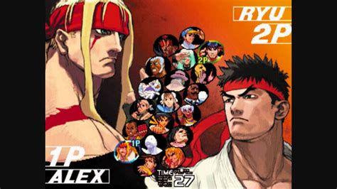 Character Select Street Fighter 3 3rd Strike Ost Hq