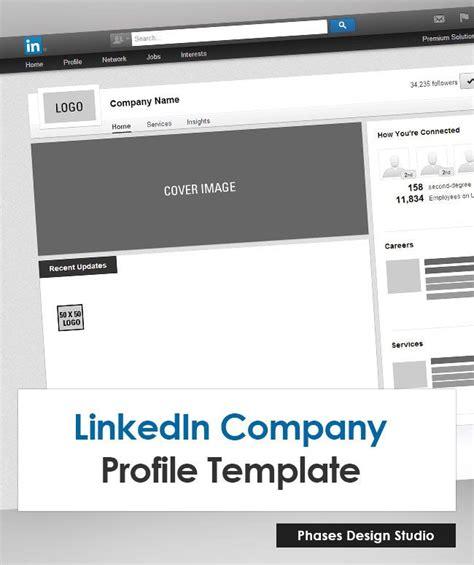 linkedin template linkedin company profile template marketing your brand company profile template