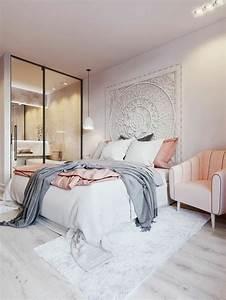 Chambre Rose Pale : chambre grise et rose nos id es d co tendance ~ Melissatoandfro.com Idées de Décoration
