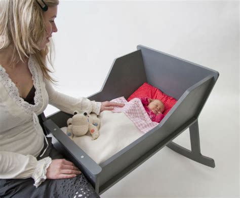 modern rocking chair with integrated baby cradle spicytec