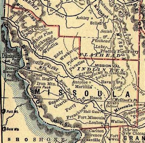 Map of Missoula County, Montana 1893-1895