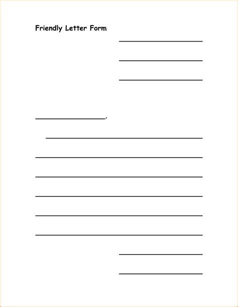 Letter Writing Template 11 Friendly Letter Format Template Invoice Template